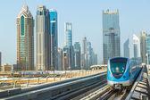 Dubai metro railway — Stock Photo