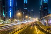Dubai Dowtown at ngiht — Stock Photo