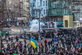 """Protest gegen die """"diktatur"""" in der ukraine macht gewalttätig — Stockfoto"""
