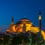 Hagia Sophia in Istanbul Turkey at night — Stock Photo #39554833