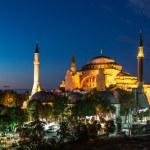 Hagia Sophia in Istanbul Turkey at night — Stock Photo #39554907