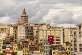 Cityscape with Galata Tower over the Golden Horn in Istanbul, Turkey. — Stock Photo