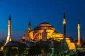 Hagia Sophia in Istanbul Turkey at night — Stock Photo