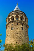 Galata Tower over the Golden Horn in Istanbul, Turkey — Stock Photo