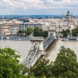 Stock Photo: Chain Bridge and HungariParliament, Budapest, Hungary