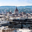 View at Budapest and belfry from the top of St. Stephen Basilica Cathedral — Stock Photo