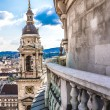 Aerial view at Budapest from the top of St Stephen Basilica Cathedral — Stock Photo #39702251