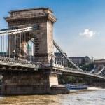 The Szechenyi Chain Bridge is a beautiful, decorative suspension bridge — Stock Photo #39702293