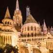 Stock Photo: Fisherman's bastion night view, Budapest, Hungary