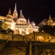 Fisherman's bastion night view, Budapest, Hungary — Stock Photo #39703259