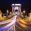 Night view of the famous Chain Bridge in Budapest, Hungary. — Stock Photo #39703463