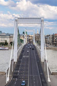 Elisabeth Bridge, Budapest, frontal view — Stock Photo