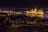 Budapest Parliament building in Hungary at twilight. — Stock Photo
