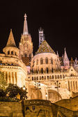 Fisherman's bastion night view, Budapest, Hungary — Stock Photo