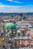 Panorama of Vienna from St. Stephen's Cathedral — Stock Photo