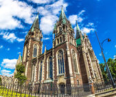 Architectural landmark - Church of St. Olha and Elizabeth in Lvov — Stock Photo