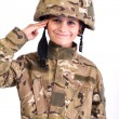 Stock Photo: Saluting soldier.