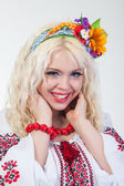Woman dressed Ukrainian national dress — Stock Photo