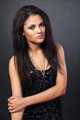 Pretty woman with dark hair — Stock Photo