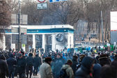 "Protest Against ""Dictatorship"" In Ukraine Turns Violent — Stock Photo"