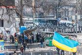 """Protest Against """"Dictatorship"""" In Ukraine Turns Violent — Stock Photo"""