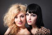 Portrait of two beautiful women — Stock Photo