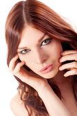 Retrato de mujer joven con el pelo rojo — Foto de Stock