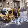 Stock Photo: Ukrainirevolution, Euromaidafter attack by government f