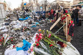 Ukrainian revolution, Euromaidan after an attack by government f — Foto de Stock