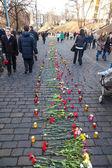 Revolución ucraniana, euromaidan después de un ataque de gobierno f — Foto de Stock