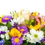 Spring flowers background on white background — Stock Photo #42265307