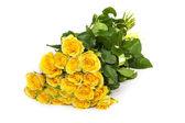 组的鲜黄色玫瑰 — 图库照片