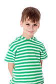 分離したかわいい男の子 smilling — ストック写真