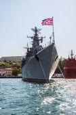 Russian warship in the Bay, Sevastopol, Crimea — Stock Photo