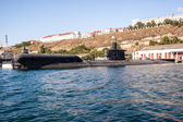 Russian warship in the Bay, Sevastopol, Crimea — Stock Photo
