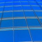 Skyscraper  blue glass — Stock Photo #43651071