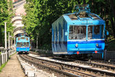 Funicular trains — Stock Photo