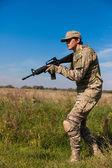 Tüfekli asker — Stok fotoğraf