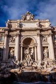 Trevi Fountain - famous landmark in Rome — Stock Photo