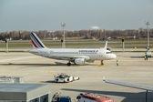 Airfrance passagerare jet på ukraina flygplats boryspil — Stockfoto