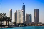 ドバイのダウンタウン。東、ユナイテッド アラブ首長国連邦の建築 — ストック写真