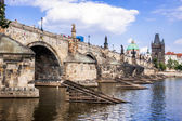 Karlov or Charles bridge in Prague — Stock Photo