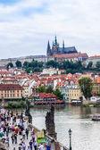 Karlov or Charles bridge in Prague — Stock Photo