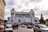 Equestrian monument to Victor Emmanuel II near Vittoriano in Rome — Stock Photo