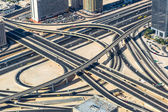 Road junction in Dubai — Stock Photo