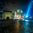 Krakow old city at night — Stock Photo