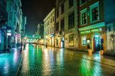 Krakow old city at night — Stock Photo