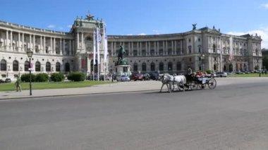 在米歇尔广场大约在霍夫堡宫 — 图库视频影像