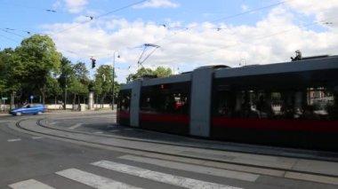 вена трамвайная сеть — Стоковое видео