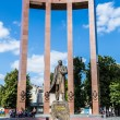 Постер, плакат: Monument of national Ukrainian hero S Bandera and great trident